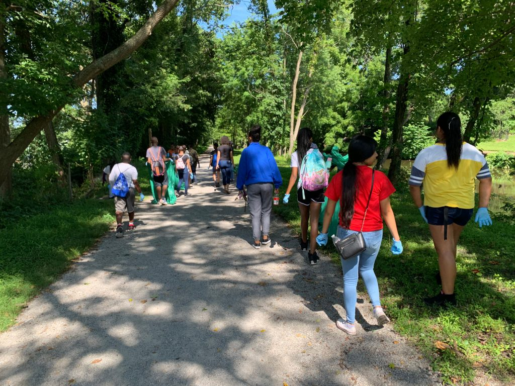 Our CSL camp scholars spent the day cleaning up Cadwalader Park. A small effort goes a long way and our scholars wanted to play their part in taking care of their city.