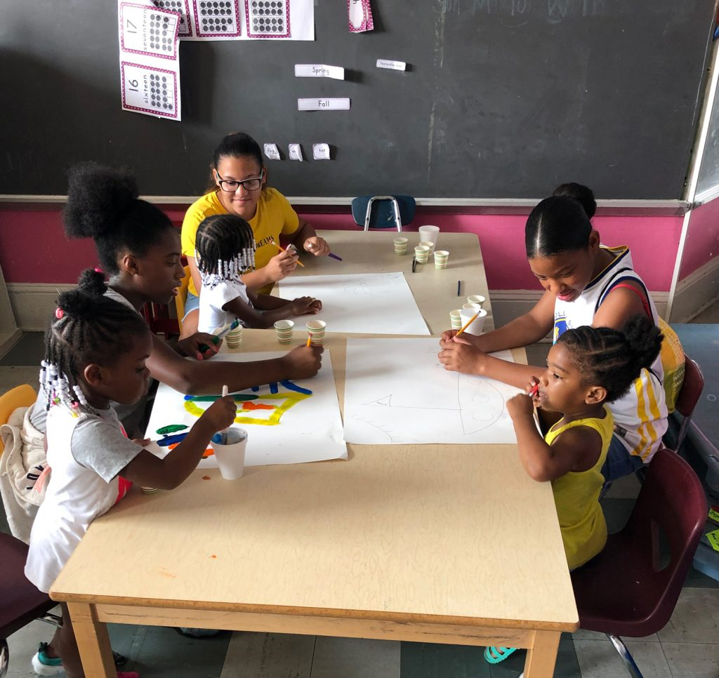 Our Civic Service Learning Camp scholars had a blast volunteering at Sprout U School of Arts, where they lent a hand in summer camp classrooms and helped get the building in shape for the next school year. Huge thank you to Danielle, owner of SproutU, for welcoming us into her school!