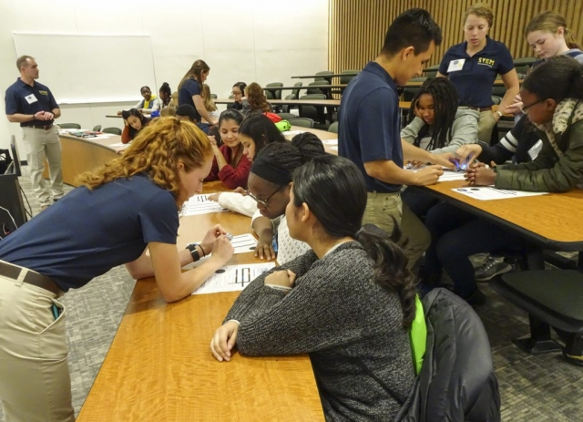 Getting some help from STEM students at the US Naval Academy.