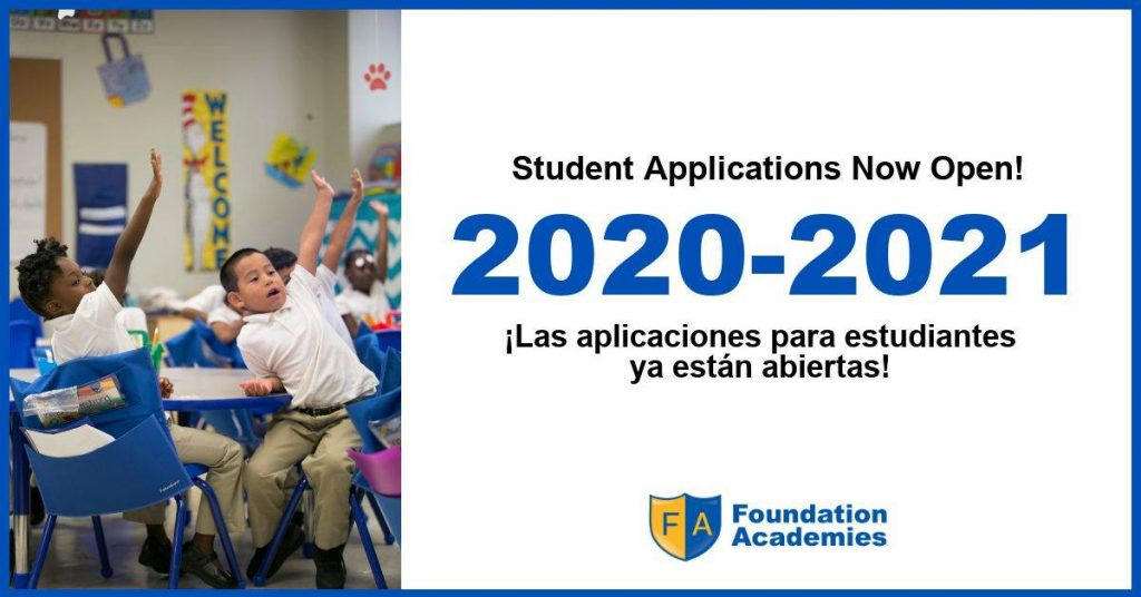 Student Enrollment for 2020-2021 Now Open!
