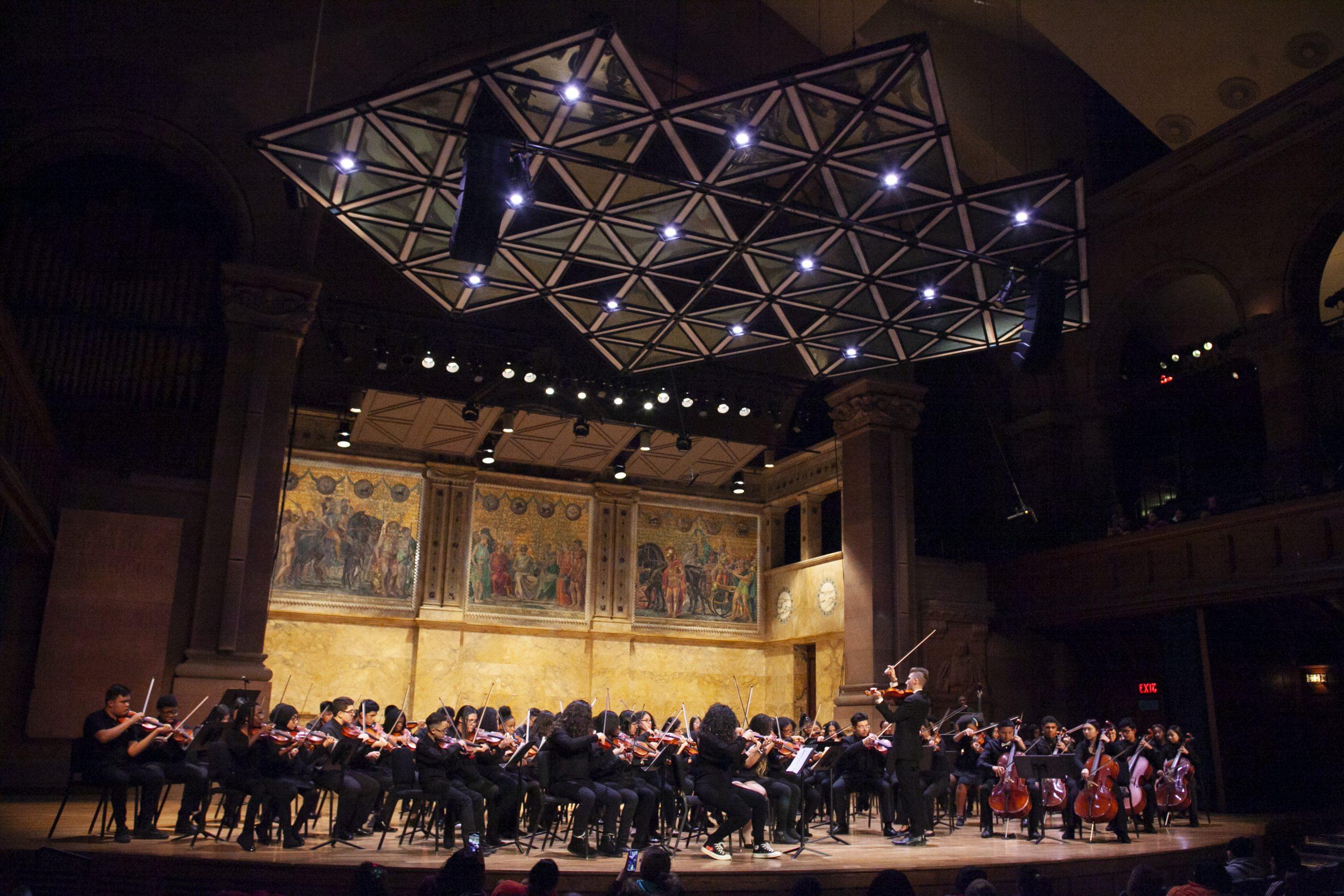 Foundation Collegiate Academy performs at Richardson Auditorium, Princeton University