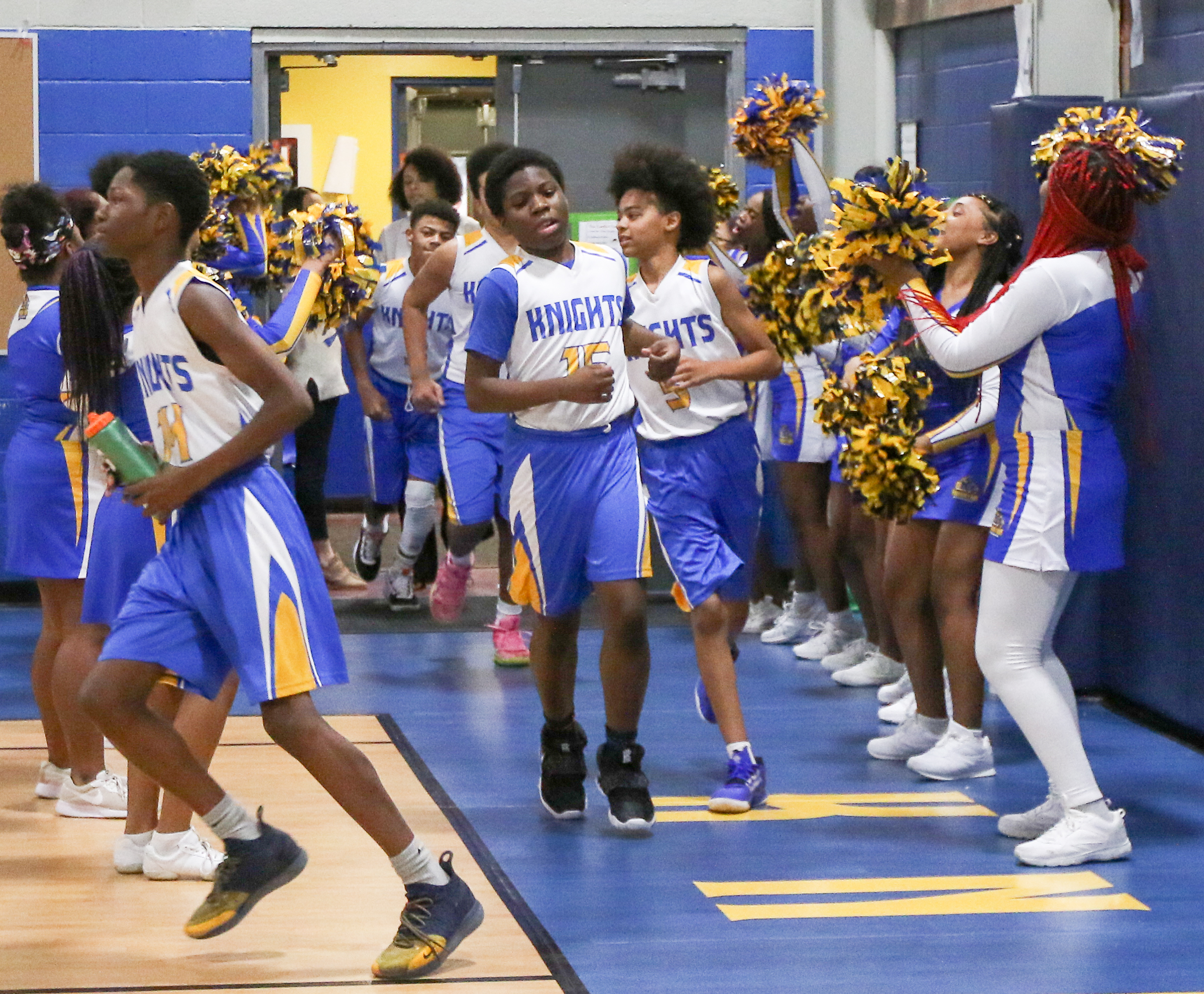 Foundation Academy Middle School Boys Basketball and Cheerleading Squad