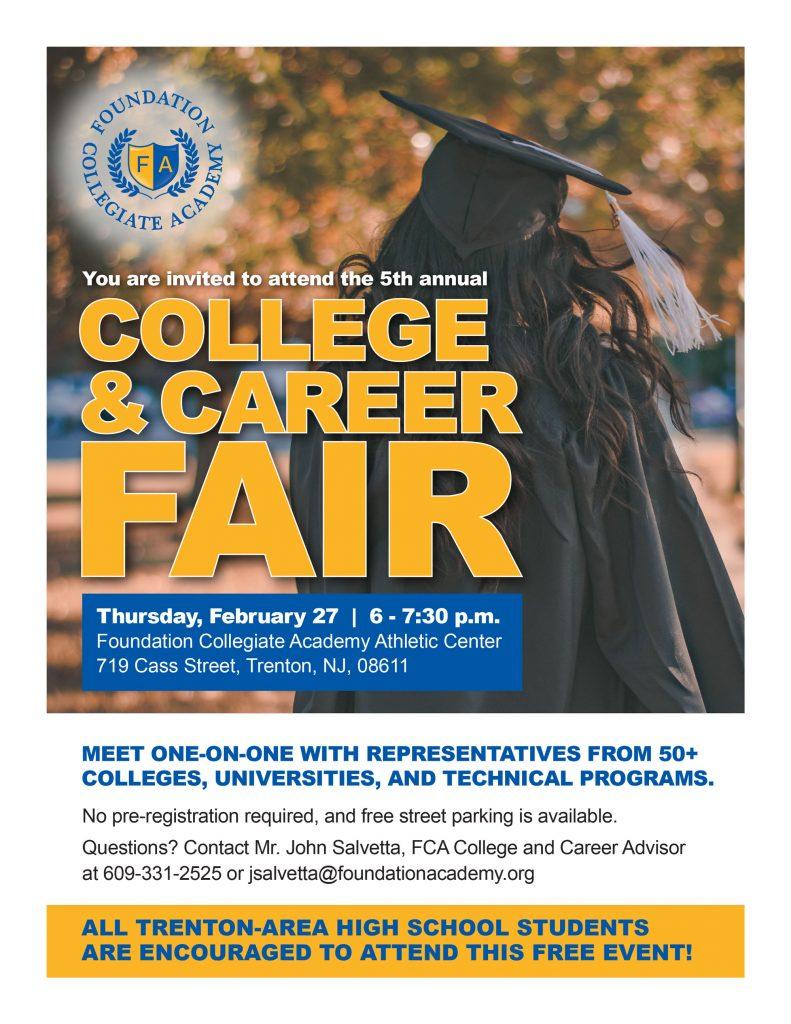 Foundation Collegiate Academy College and Career Fair Feb 27, 2020.