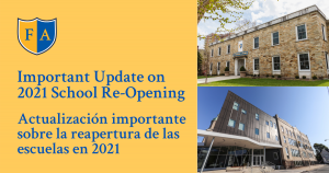 Reopening Update for 2021 - Shared December 2020
