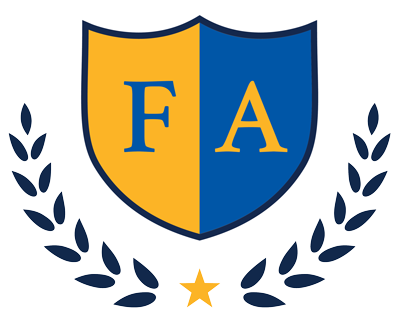 FA shield with laurels and star