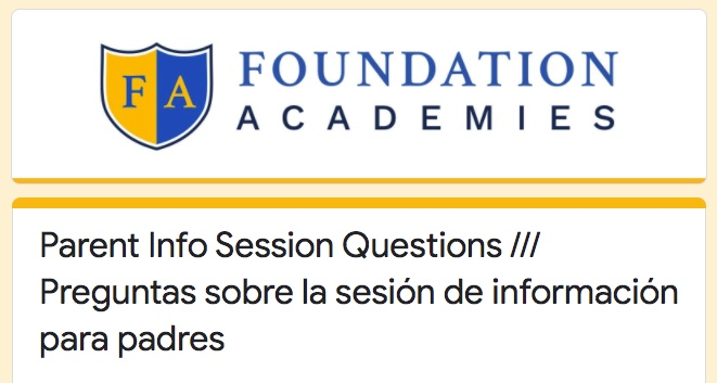 Info Session Questions