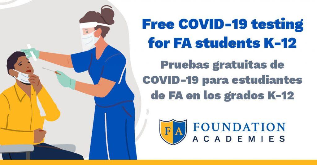 Free COVID-19 testing for FA students
