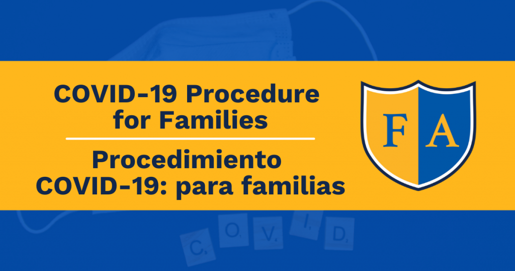 Covid procedure for families